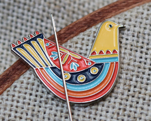 Needle Minder: Folk Art Bird