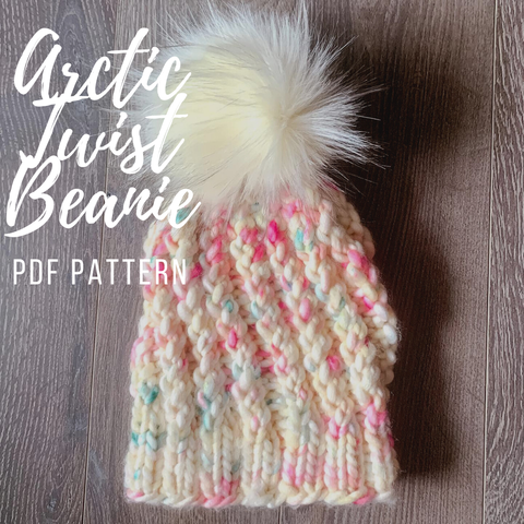 KNITTING PATTERN: Arctic Twist Beanie