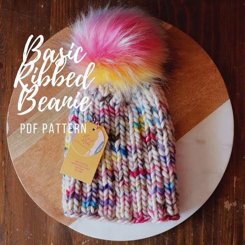 Pattern Only: Basic Ribbed Beanie
