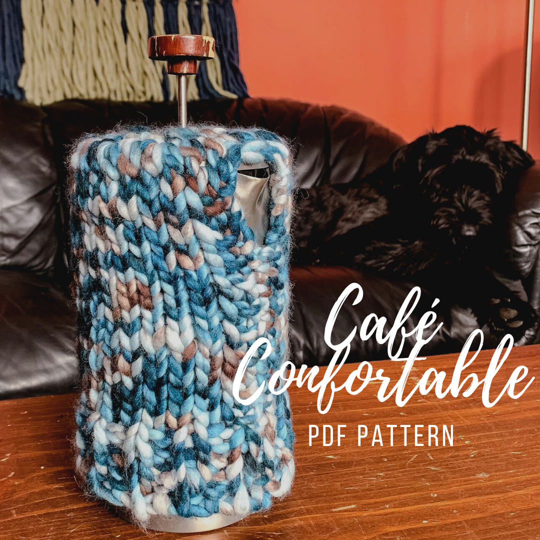 KNITTING PATTERN: Café Confortable French Press Cozy