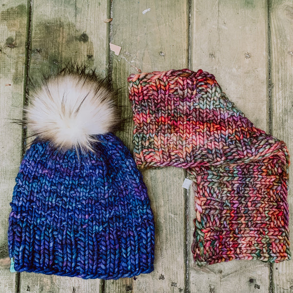 PATTERNS ONLY | Bluegrass Beanie and Scarf