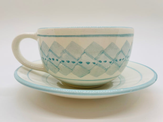 By the Sea Cup and Saucer Set, Set of 4