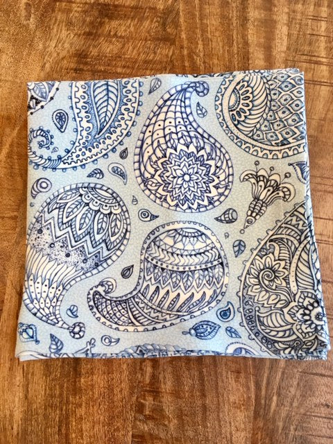 Tu Mesa Blue Parsley 4-Setting Napkins
