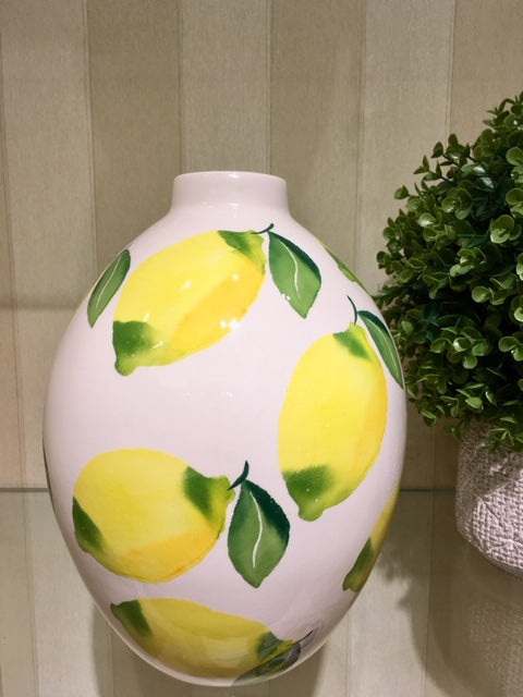 Handcrafted Lemon Vase