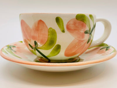 Primavera Cup and Saucer Set, Set of 4