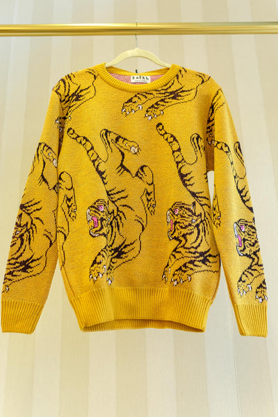 Lurex Mustard Sweater