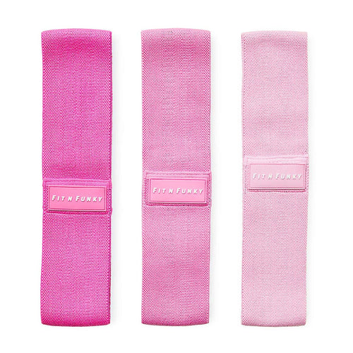 Fit N Funky Pink Booty Bands Set of 3