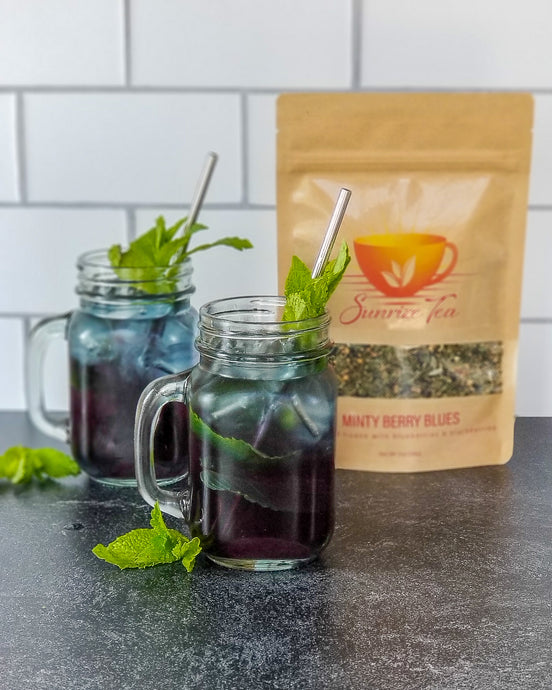 Mood-Boosting Iced Tea, featuring Minty Berry Blues
