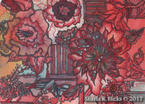 Tangle-Inspired Botanicals by Sharla R. Hicks, artist, author, CZT