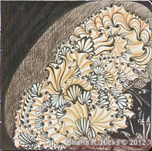Load image into Gallery viewer, Learn the enhancers that make the Zentangle Inspired Art strong. Artwork by Sharla R. Hicks, artist, CZT