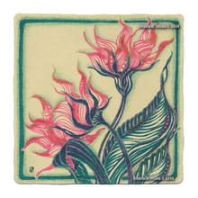 Sharla R. Hicks uses renaissance Zentangle tile, color pens for expressive tangle-inspired botanicals workshop example.