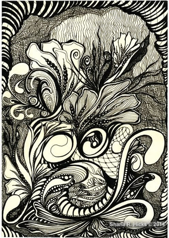 Tangle-Inspired Botanical by Sharla R. Hicks, CZT and author