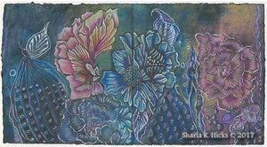 Tangle-Inspired Botanical by Sharla R. Hicks, CZT, artist, author