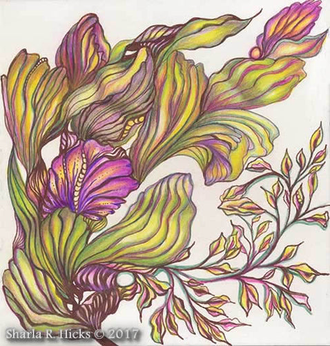 Tangle-Inspired Botanical example for Sharla R. Hicks CZT retreat