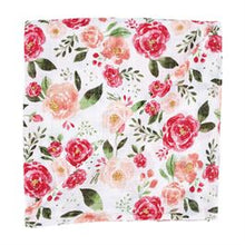 Load image into Gallery viewer, Large Floral Muslin Swaddle Blanket