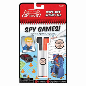 Wipe off Activity Pad- Spy