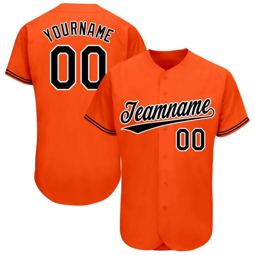 Custom Baltimore Orange Team Baseball Jersey