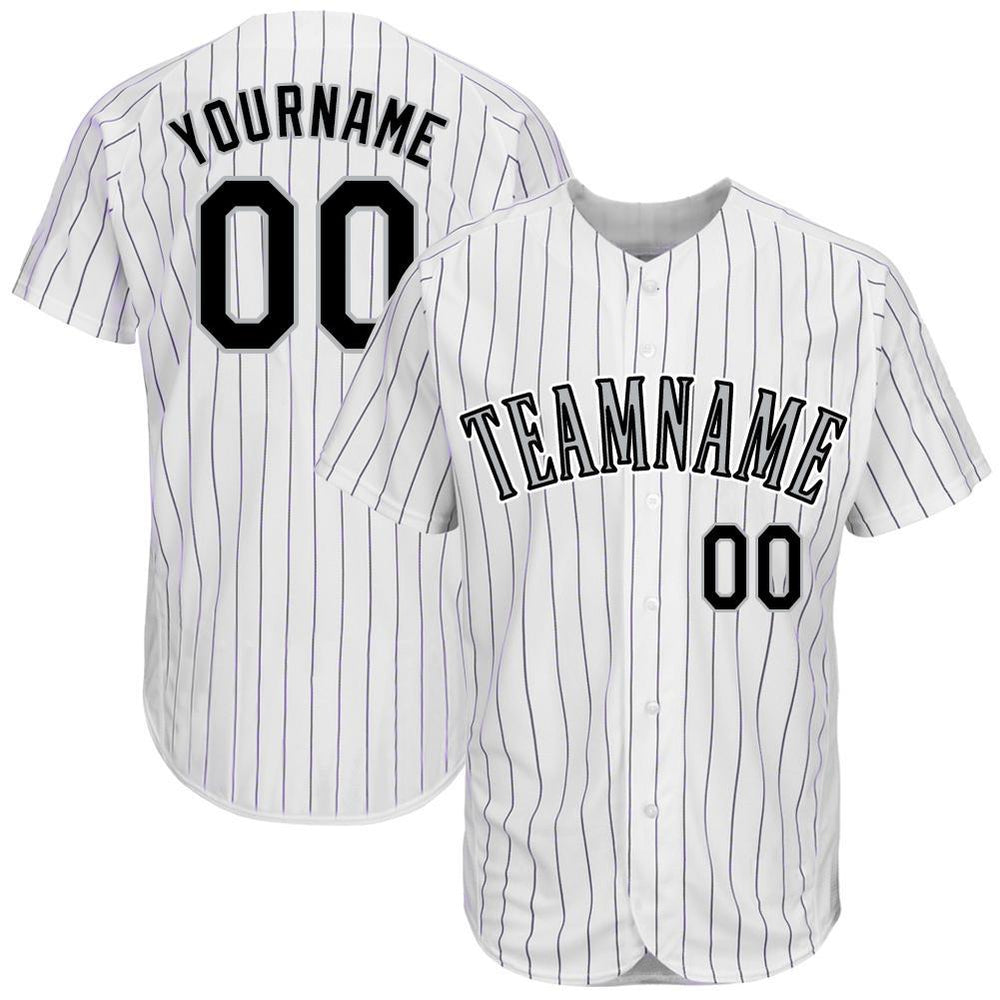 Custom Colorado White Team Baseball Jersey