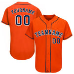 Custom Houston Orange Team Baseball Jersey