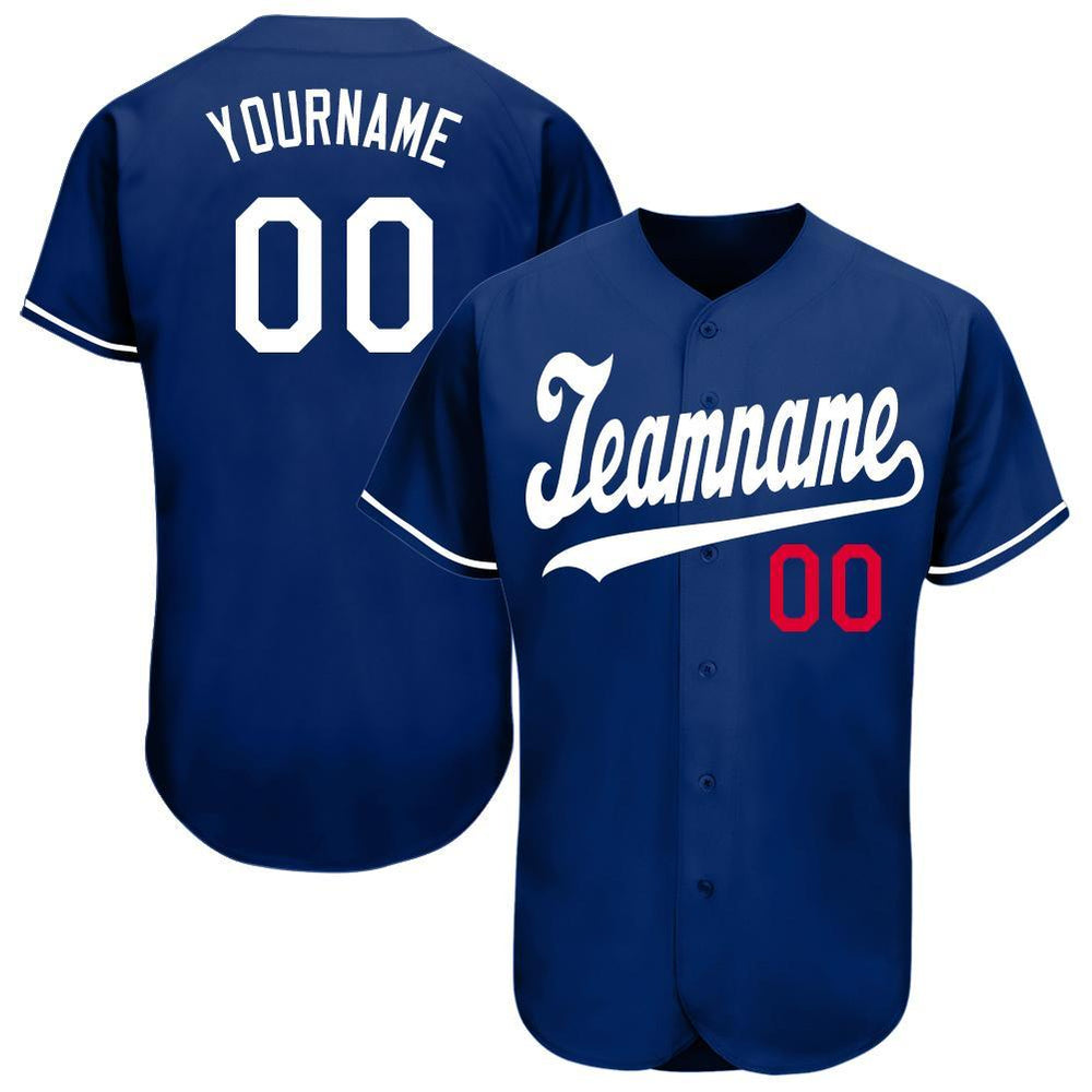 Custom Los Angeles Royal Team Baseball Jersey