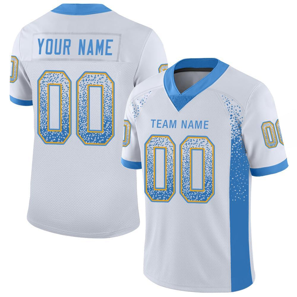 Custom Los Angeles White Mesh Drift Fashion Football Jersey