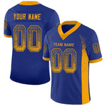 Custom Los Angeles Royal Mesh Drift Fashion Football Jersey