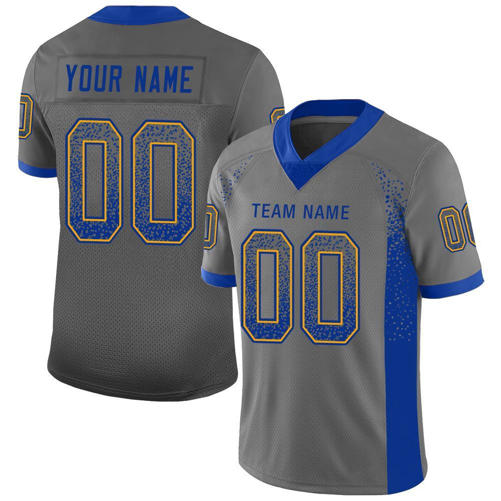 Custom Los Angeles Gray Mesh Drift Fashion Football Jersey