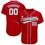 Custom Washington Red Team Baseball Jersey