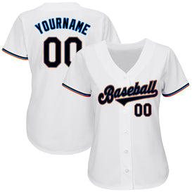 Custom White Black-Powder Blue Authentic Baseball Jersey