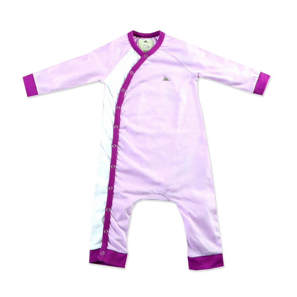 Soft Pure Cotton Java Plum Bodysuit for Boys