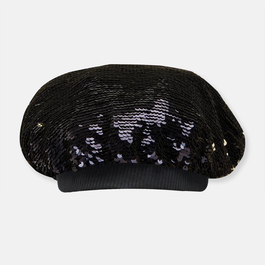 Flip Reversible Sequin Party Beret Cap