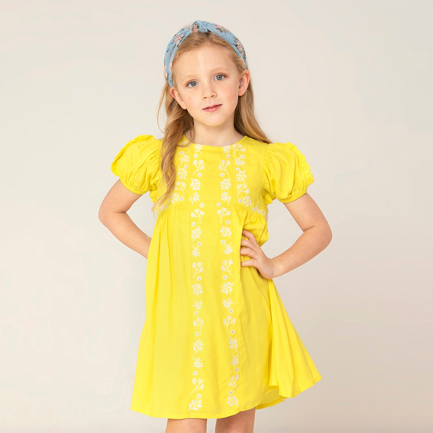 Cherry-Crumble-Kids-Sleevless-Sleevless-Round-Neck-Solid-Fit-&-Flare-Dress