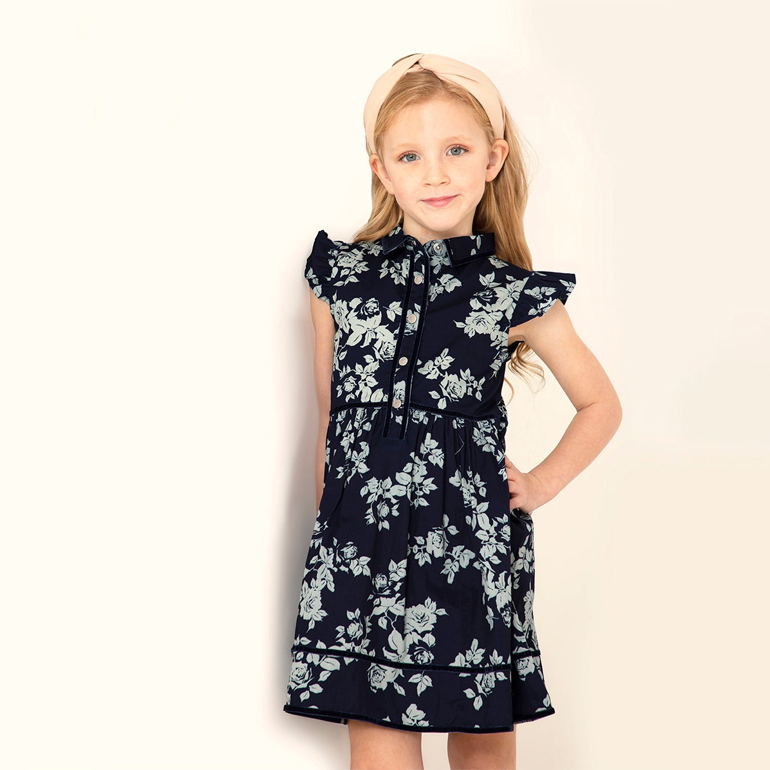 European Floral Dress for  Girls