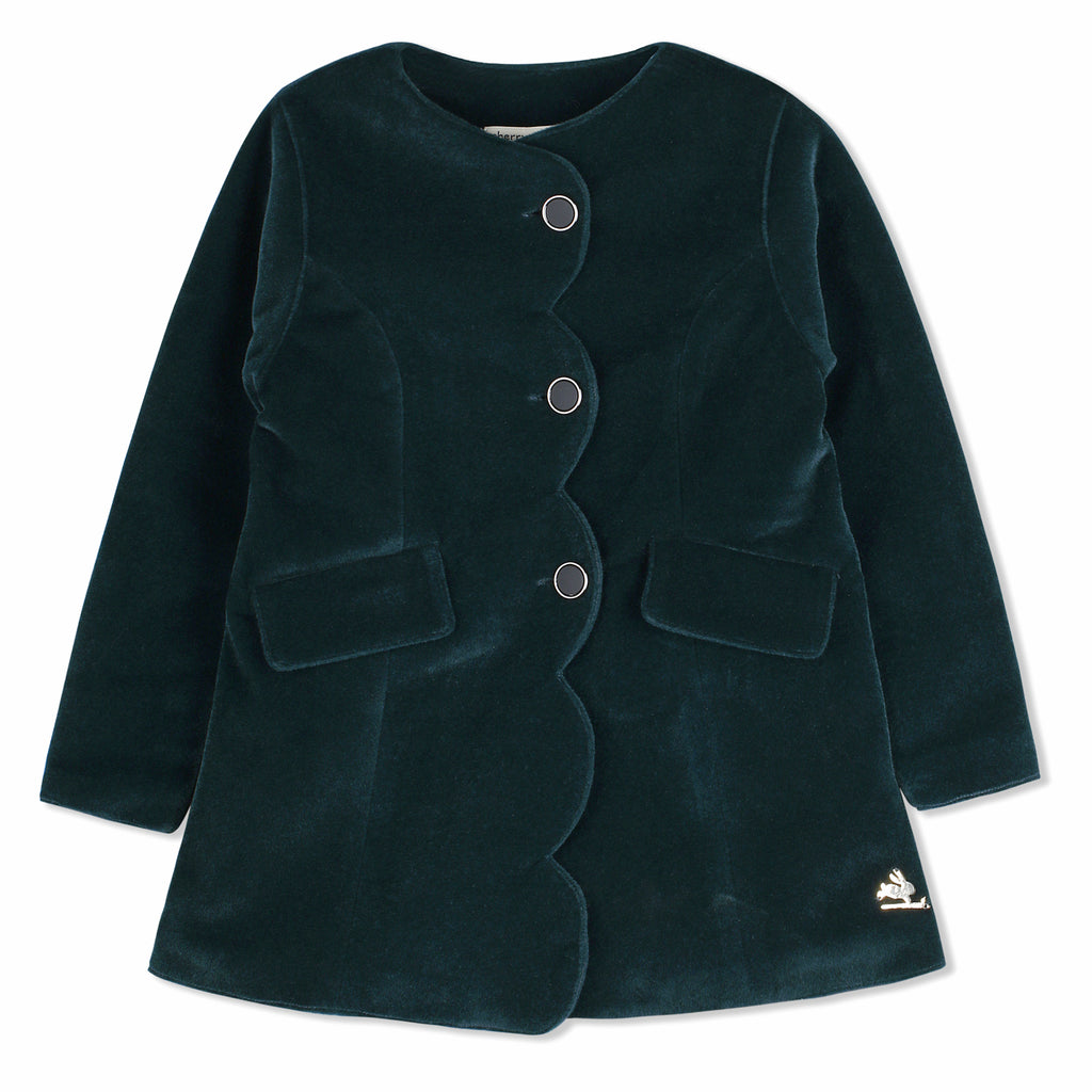 Velvet Party Coat For Girls