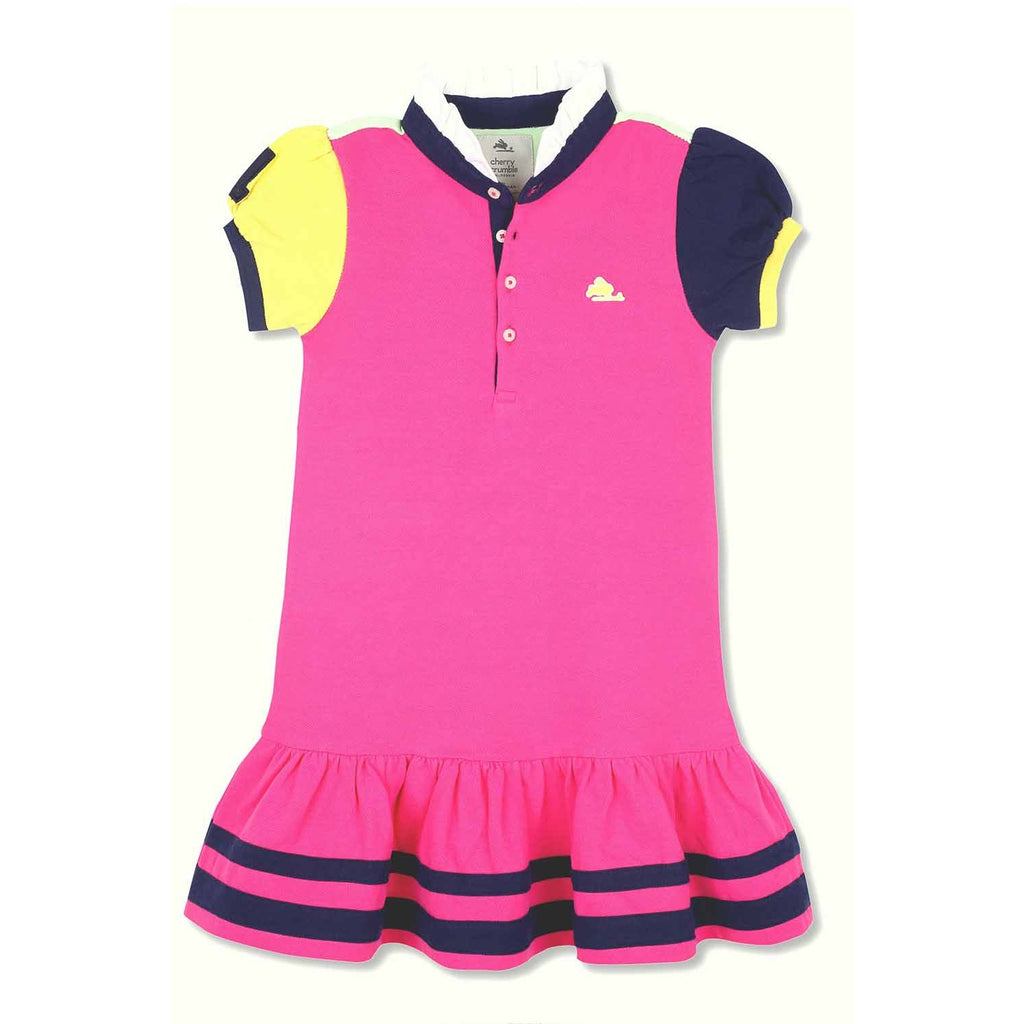 Soft Organic Cotton Cut N Sew Polo Dress for Girls