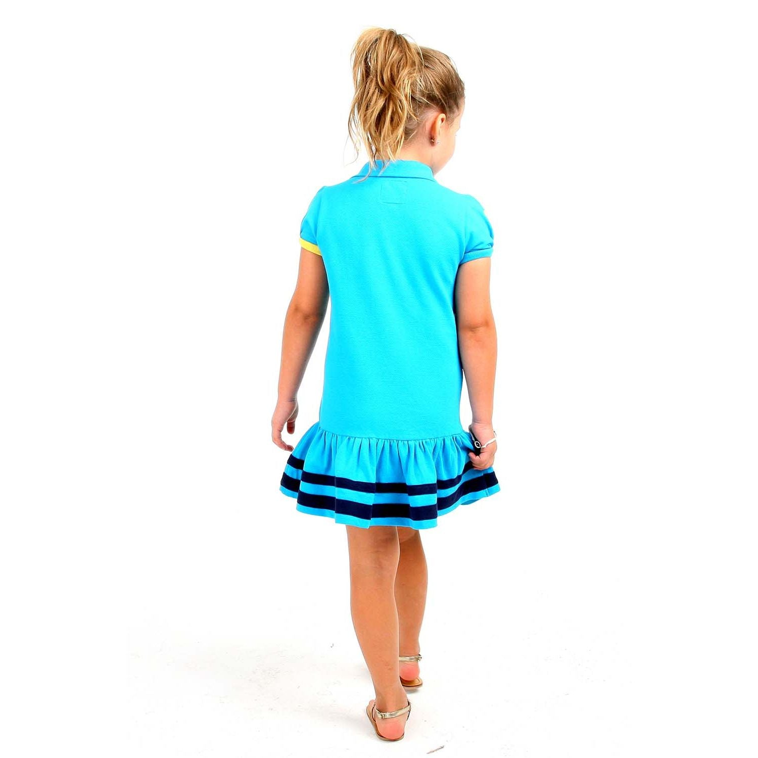 Soft Organic Cotton Polo Dress for Girls