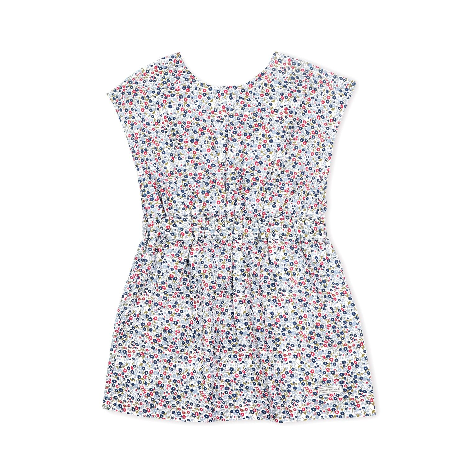 Bio Washed Cotton Floral Print Dress for Girls