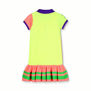 Sporty Pique Polo Dress for Girls