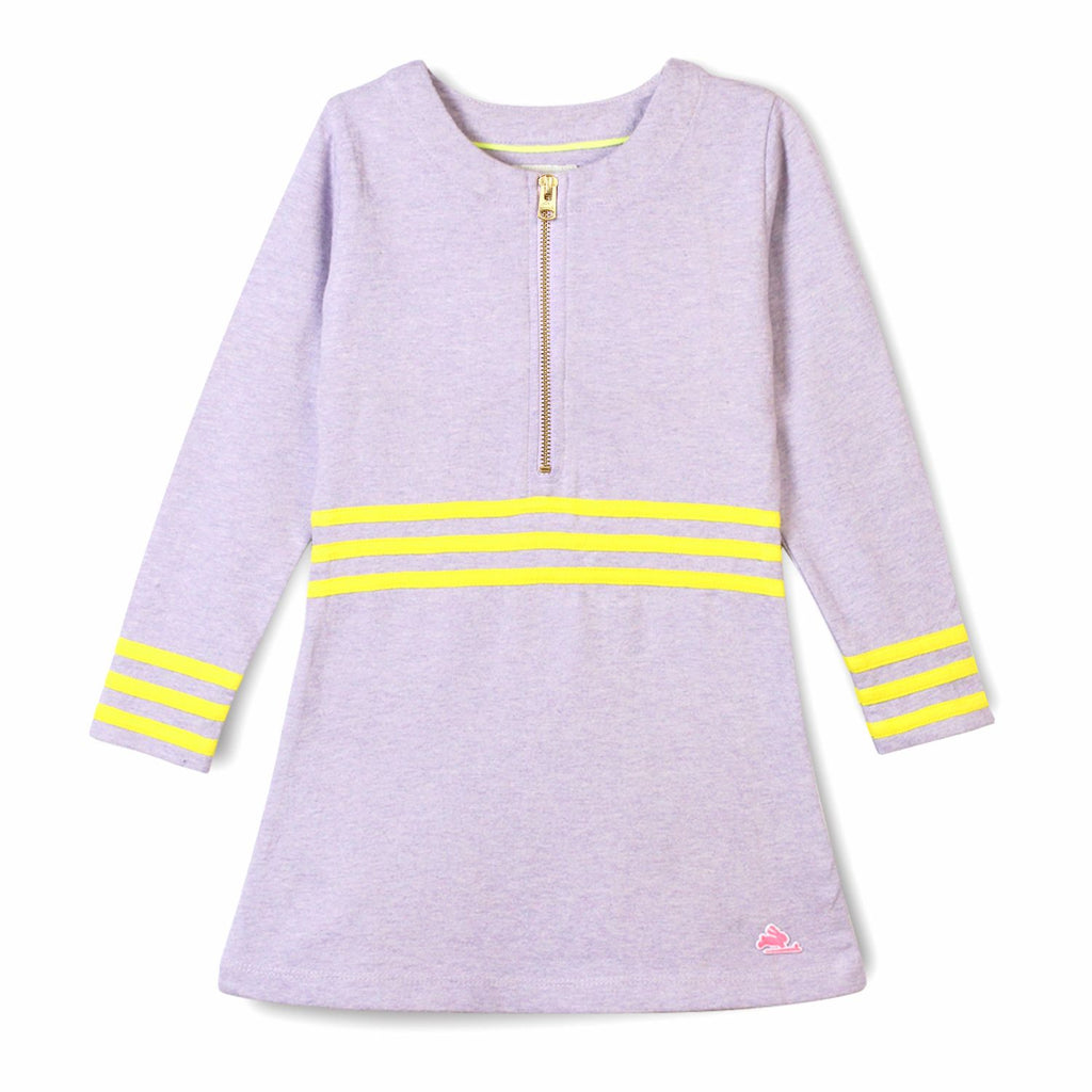 Solid Striper Jersey Dress for Girls