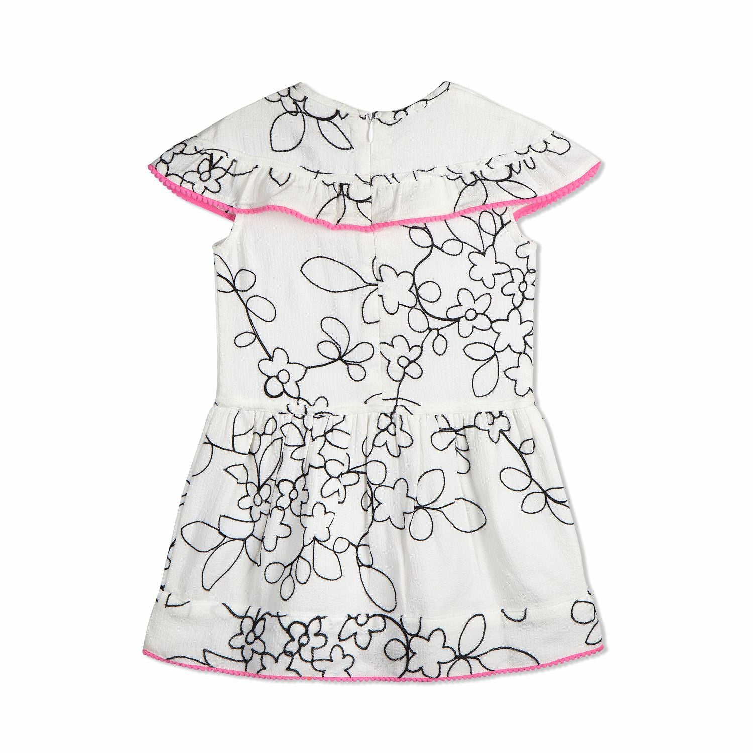 All over Embroidered Dress for Girls