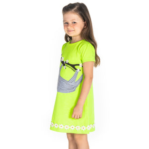 Naive Applique Dress for Girls