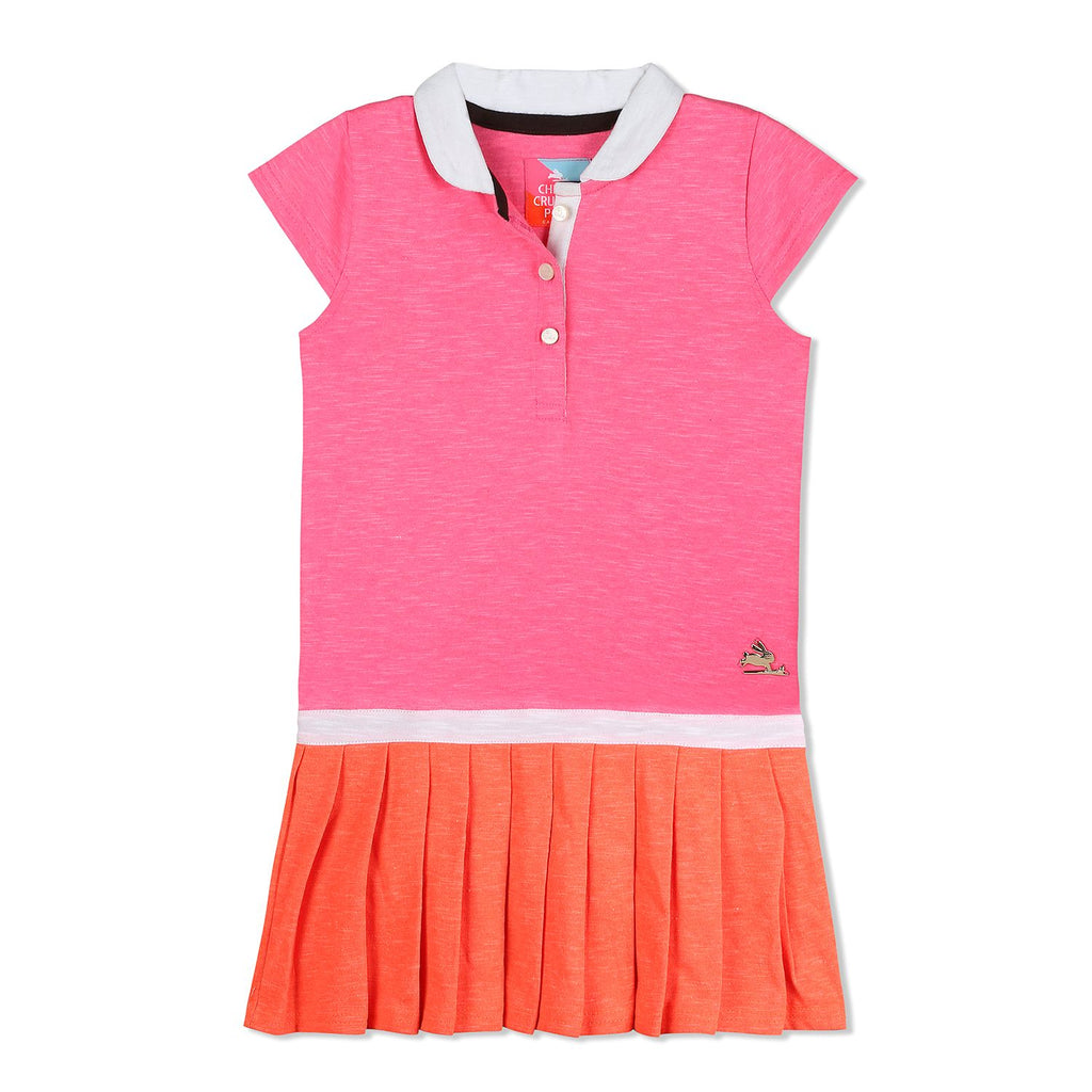 Slub Casual Dress for Girls