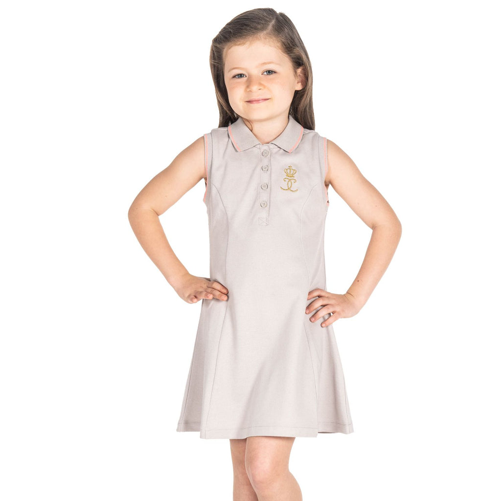 Lurex Polo Dress for Girls