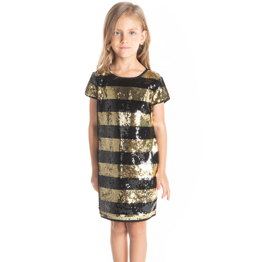 Classic Sequins Dress For Girls