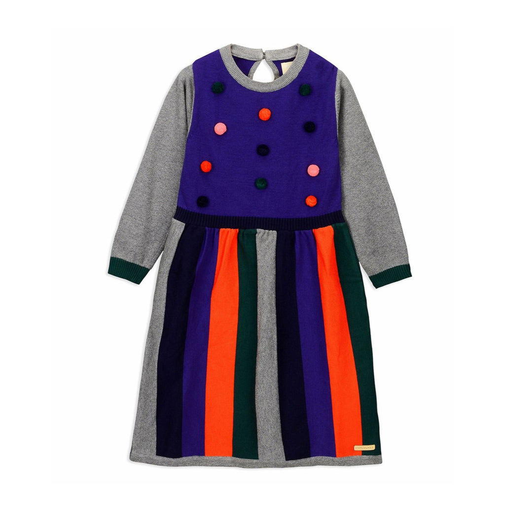 Pom Pom Sweater Dress for Girls