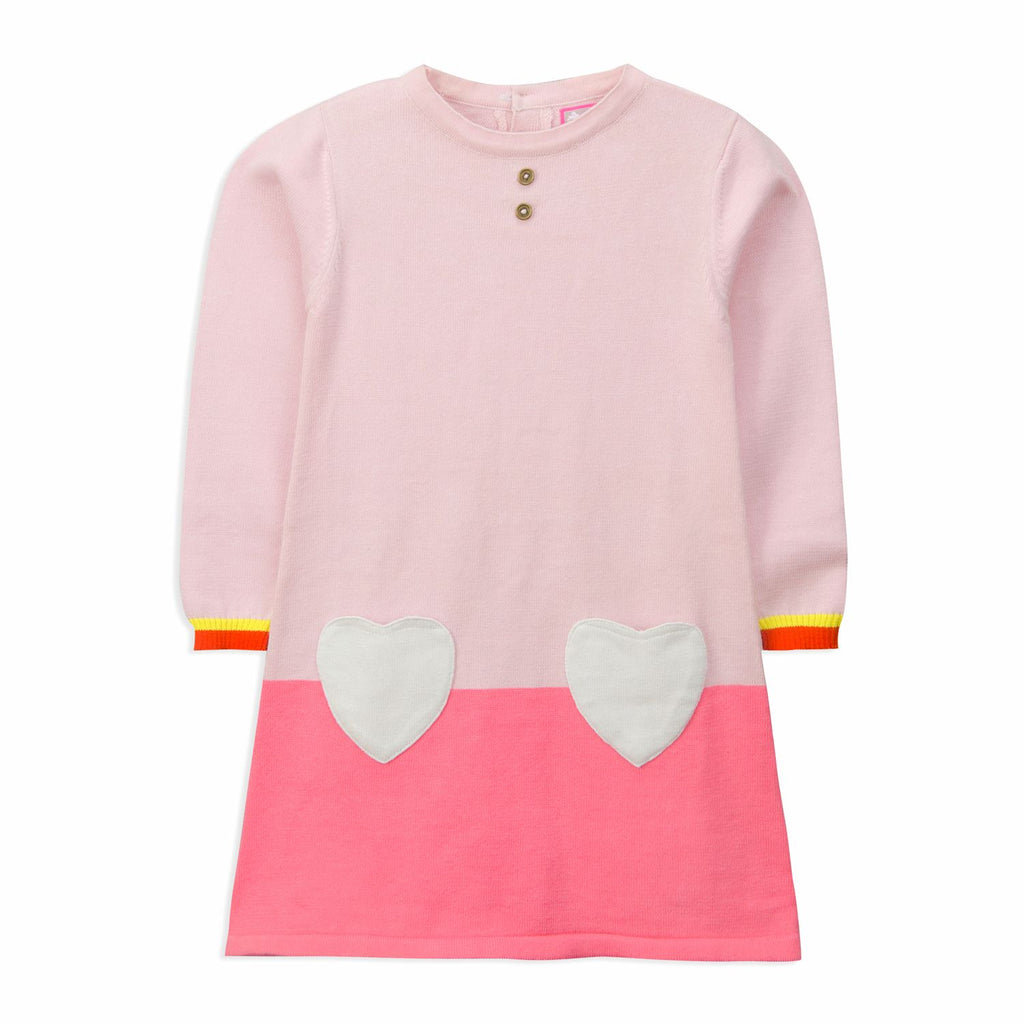 Hearty Sweater Dress for Girls