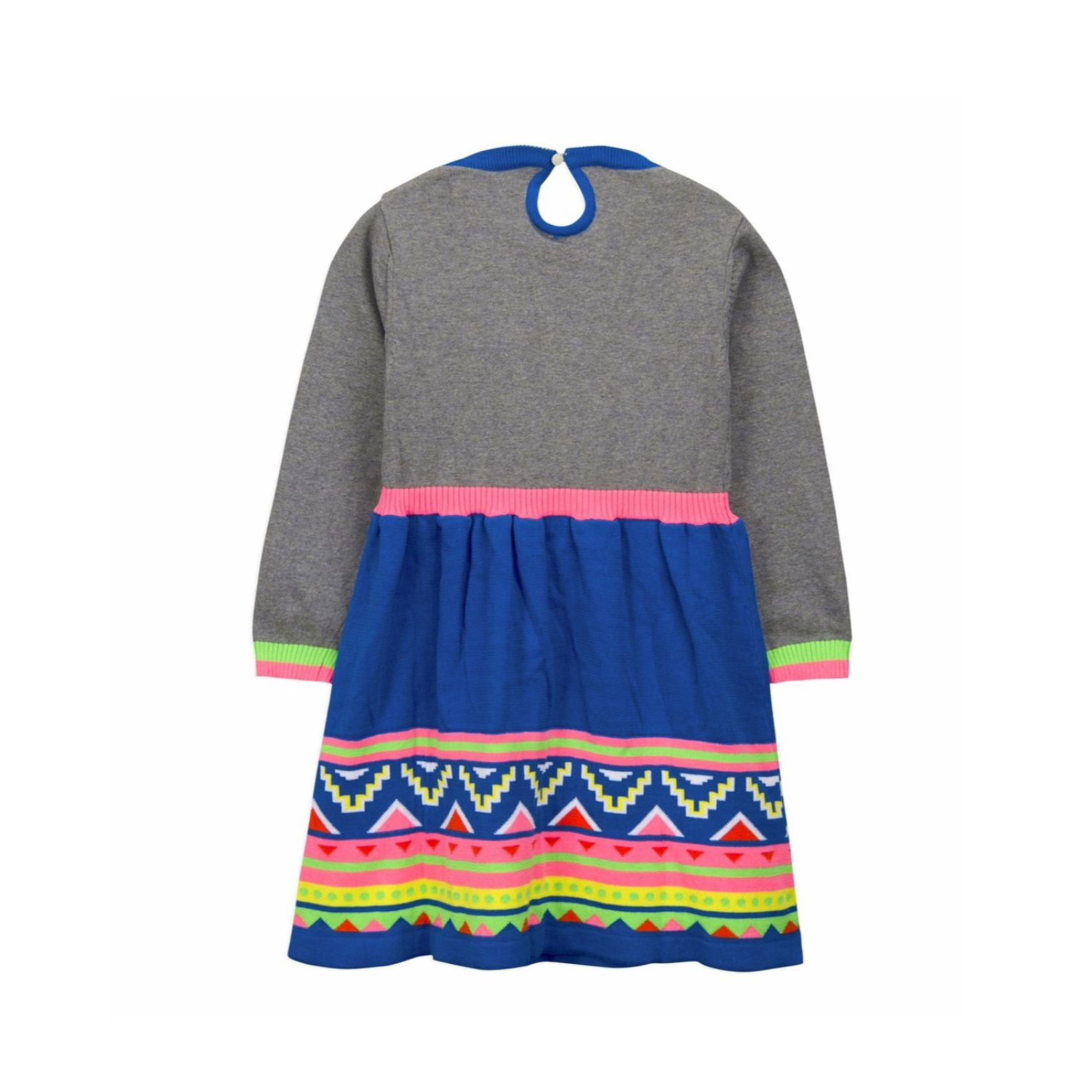 Intarsia Knitted Dress for Girls