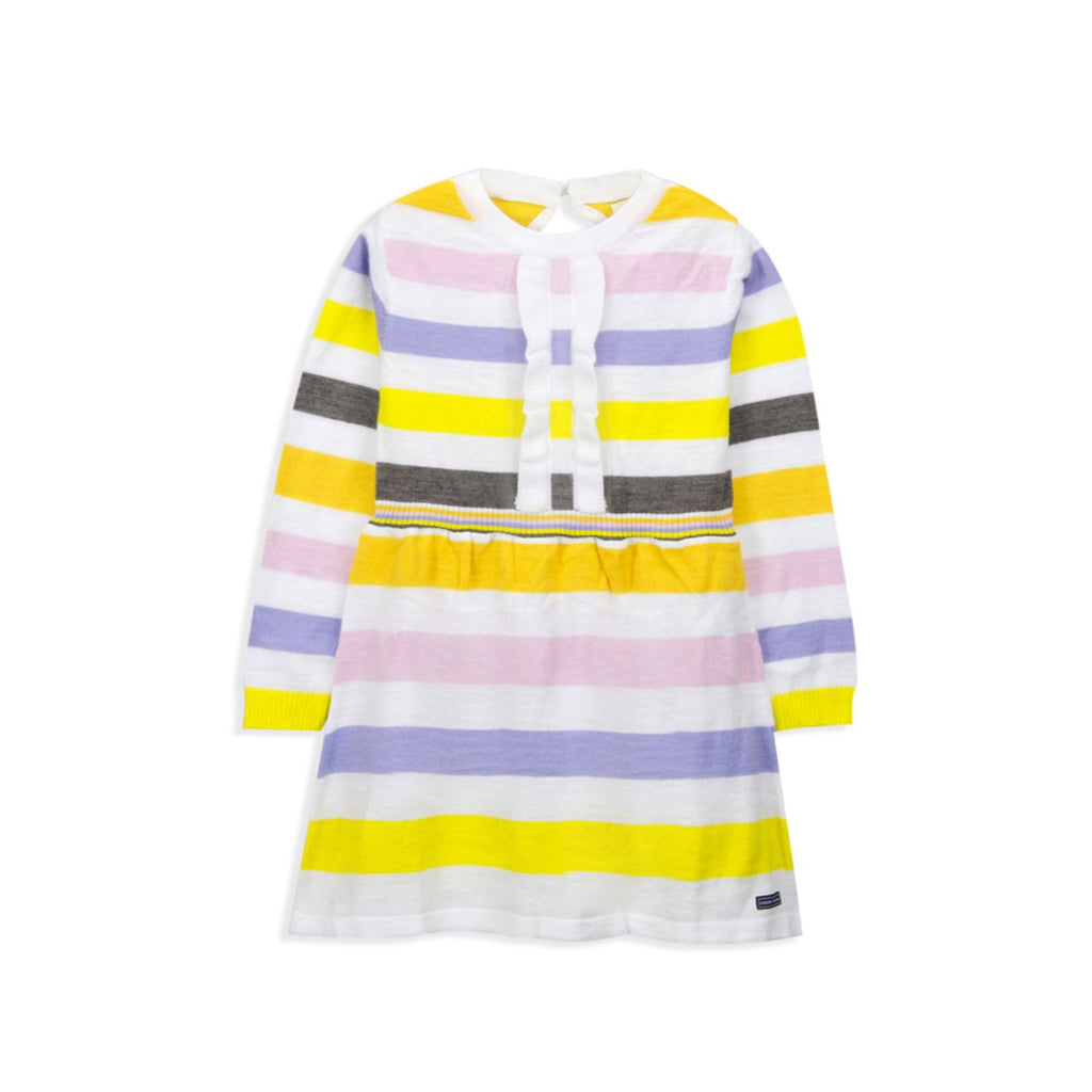 Stripy Knitted Dress for Girls