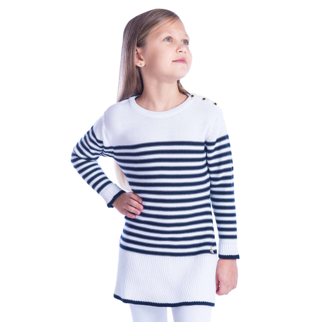 Stripes Sweater Dress for Girls