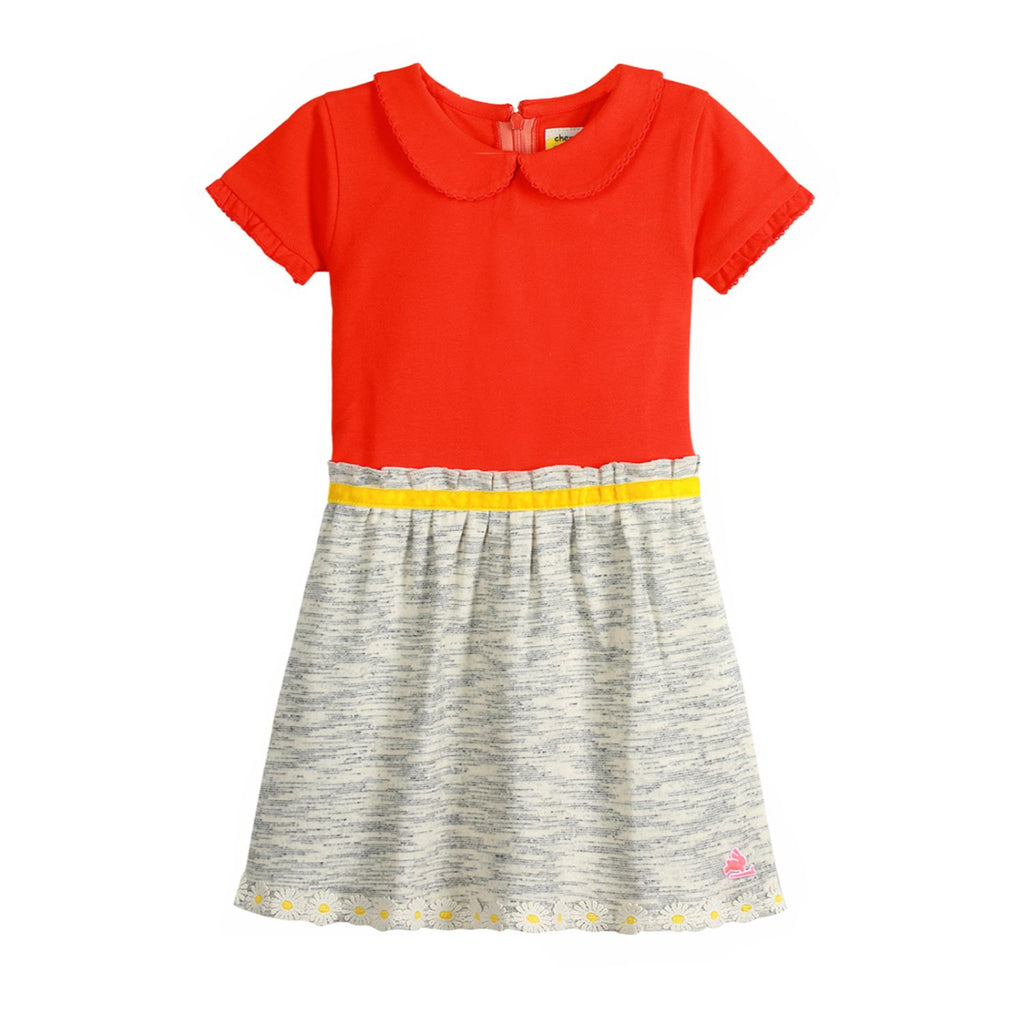 Gauzy Pretty Collar Dress for Girls